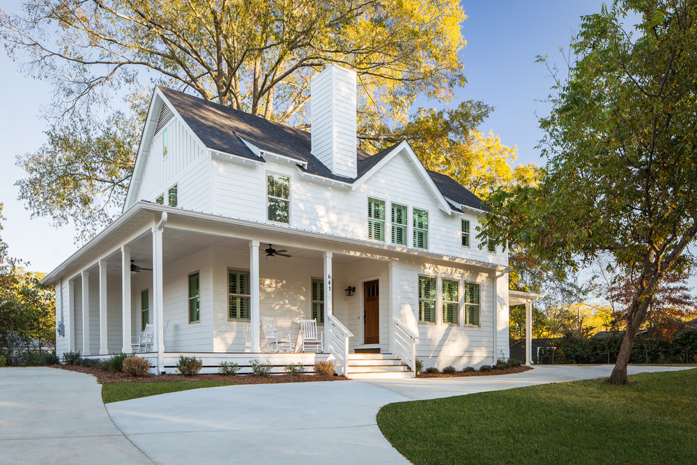 Project Hambaugh - Modern Farmhouse in Homewood Alabama photographed for Willow Homes and Willow Design Studio