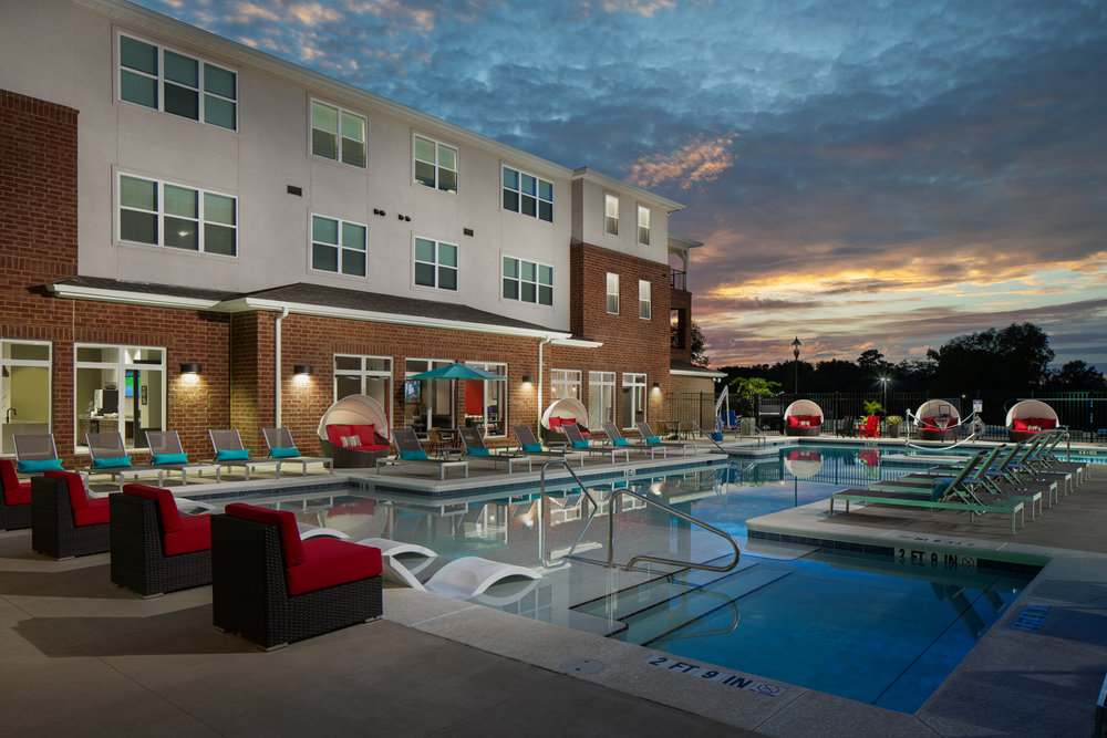 Evolve Tuscaloosa - Student living apartments for the University of Alabama photographed for CA Student Living