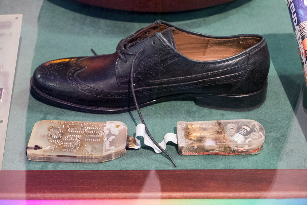 Our shoe computer is currently on loan to the Heinz Nixdorf Museum in Paderborn, Germany.