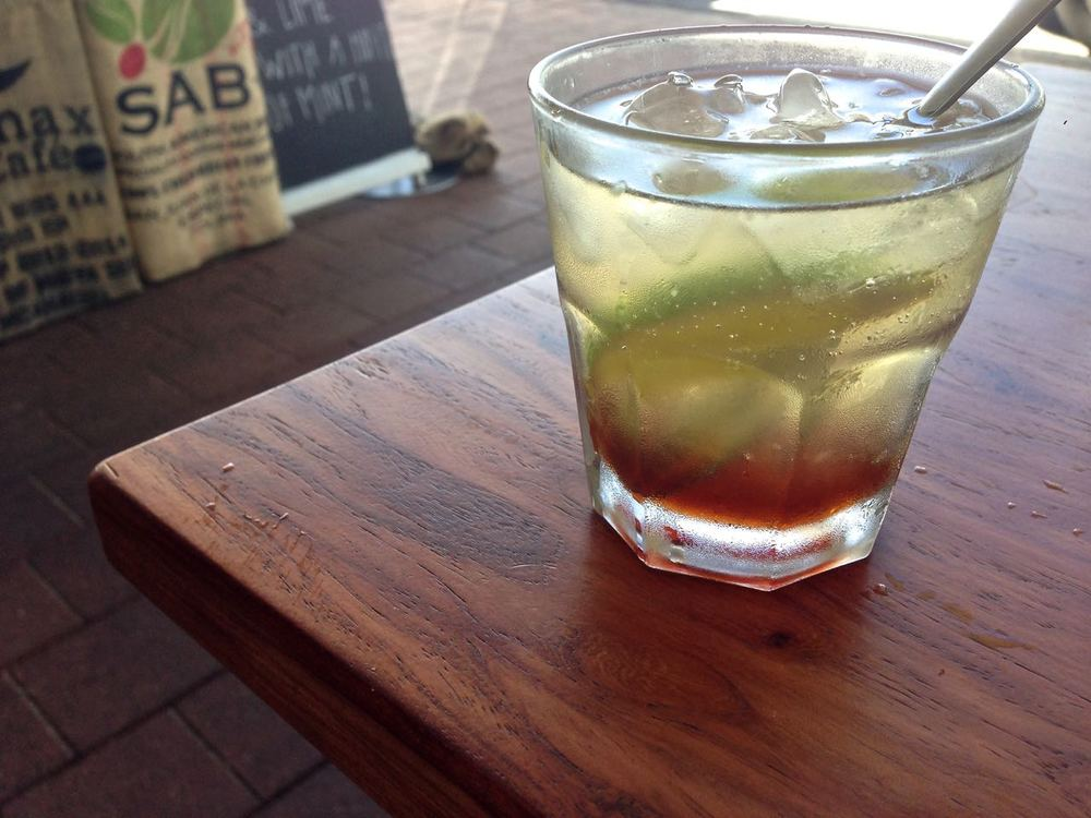 Cascara tea with honey and lime