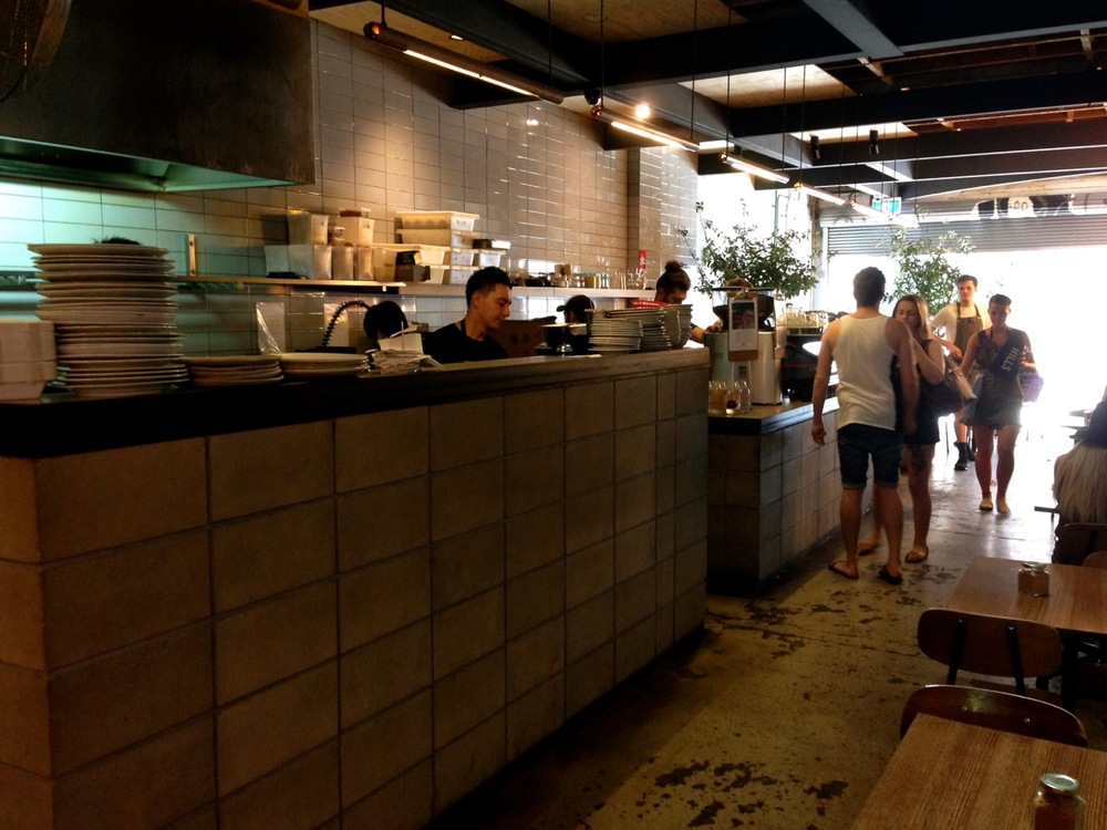 Reuben hills kitchen and tables