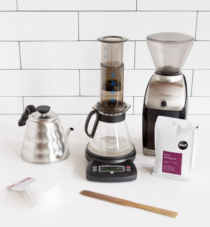 Aeropress brewing equipment. Courtesy of Heart.