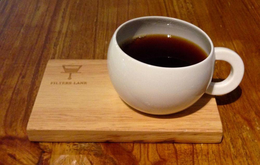 FIlters Lane's Panama coffee presentation