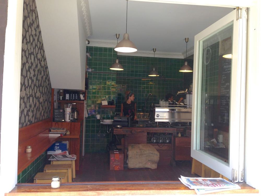 Interior of Barefoot Coffee Traders