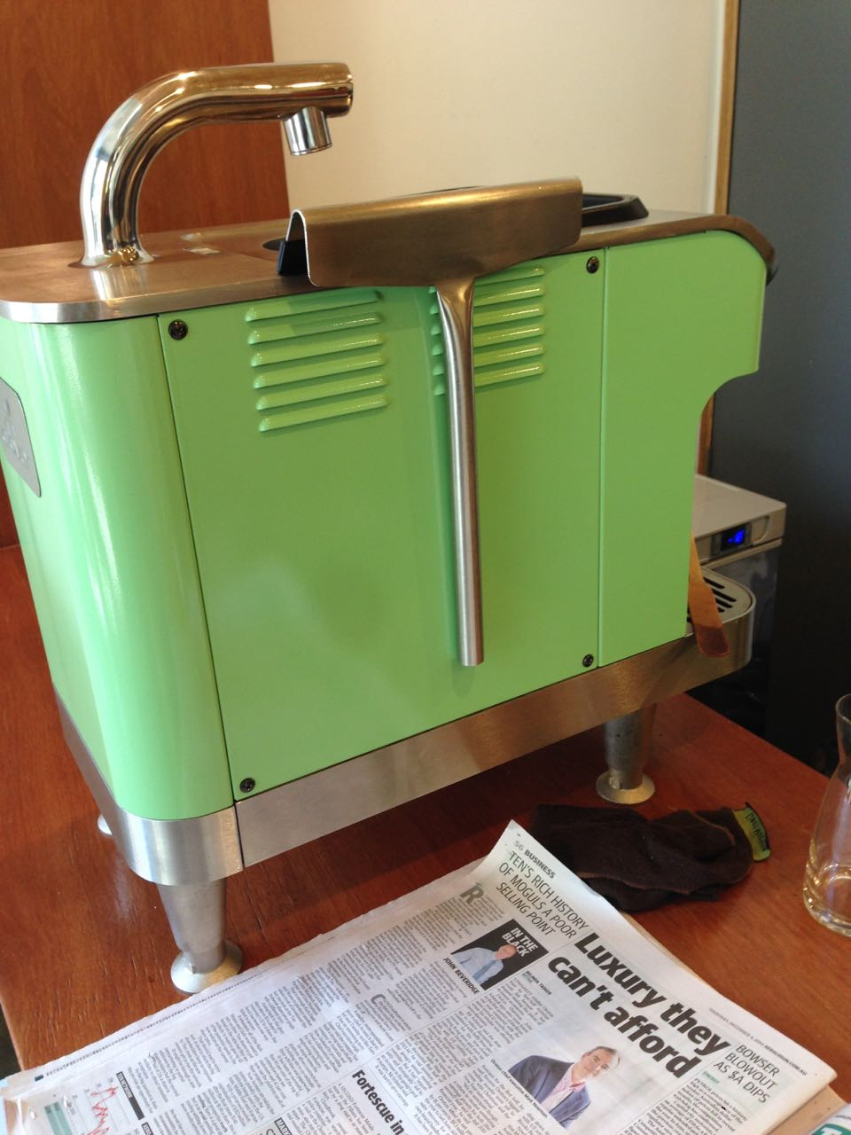 Clover at Padre. Same colour as the rest of the equipment. The article in the newspaper was probably about people like us wanting a clover.