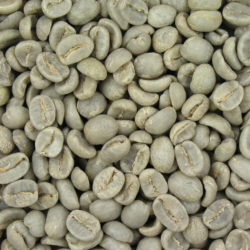 Unroasted (i.e. raw) green beans