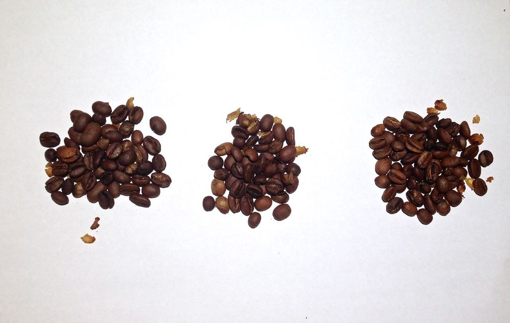 Roast beans, roast according to three profiles (to be tasted soon)