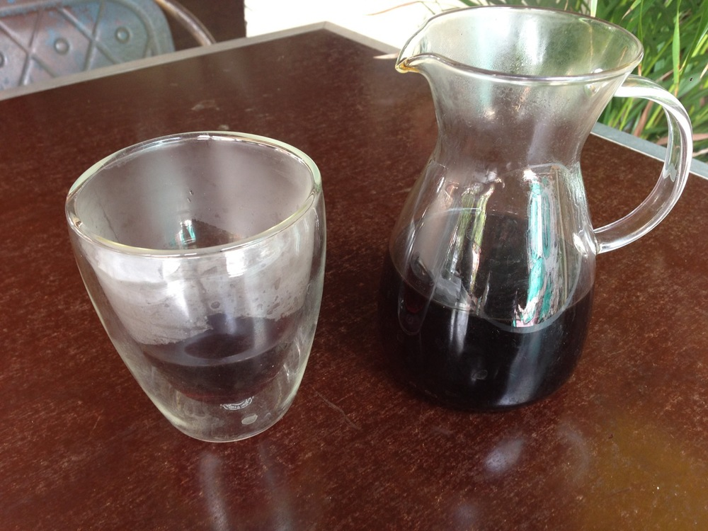 The pourover presentation at BlackStar. Unfussed. The glassware had fingerprints on them.