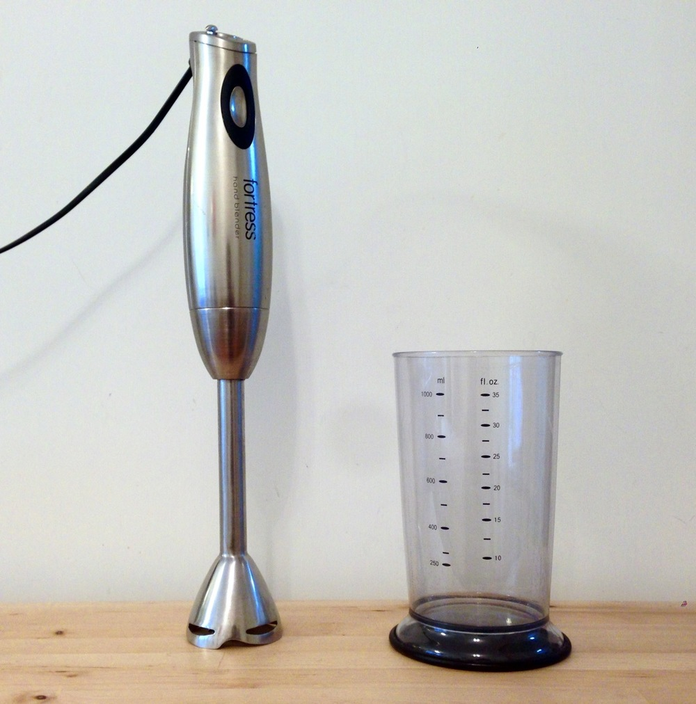 Step 4: Get one of these bad boys. Any hand blender will do. Mine is a super generic brand (this is a white-label generic made-in-China product). If you don't have one, I bet a regular jug-style blender would work, or even an electric whisk (but I haven't tried any of those).