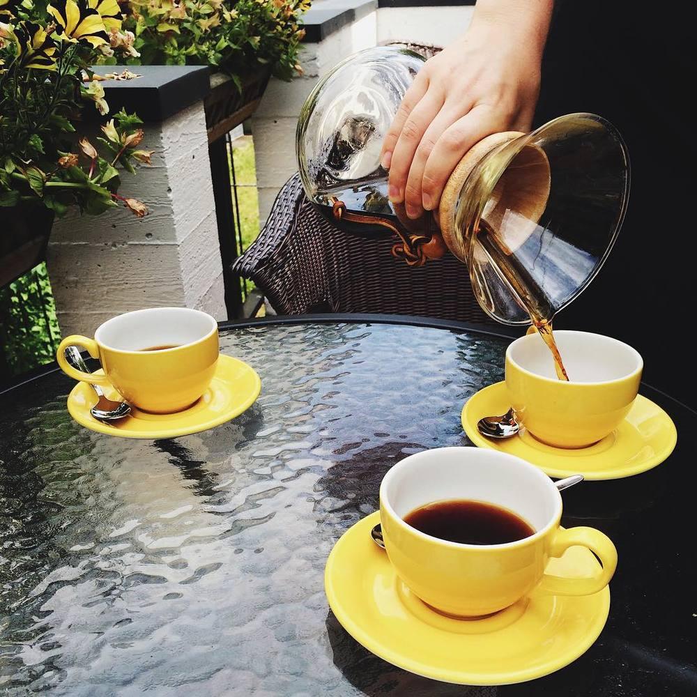 Gourmet Coffee outdoor seating