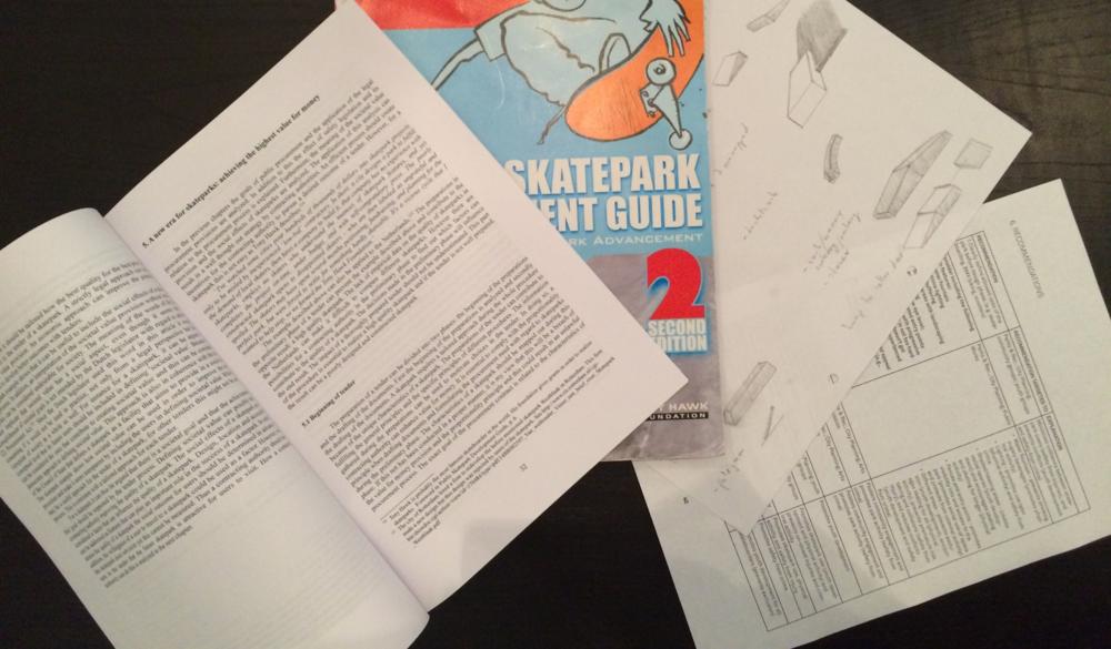 De literatuurstudies, schetsen en praktijkboeken vormen de basis voor een eerste concept. Vanuit dit concept is verder gewerkt aan de realisatie van het skatepark gelegen in Ruigenhoek.