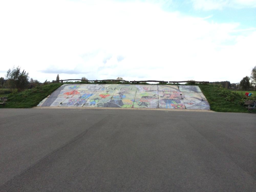 Het voormalige skatepark