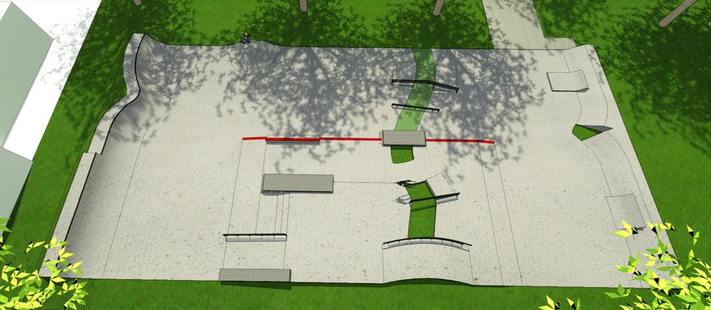 Conceptontwerp skatepark Nunspeet
