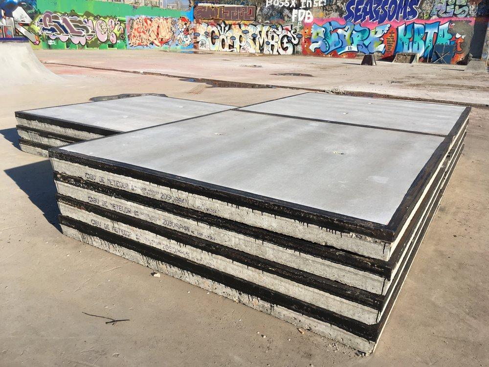 Stelconplaten skatepark Yard