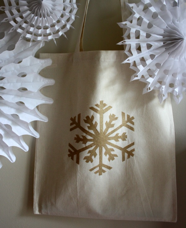 DIY Hand Stencilled Festive Tote Bag