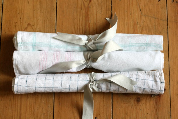 Make: Embroidered tea towels | Really Pretty Useful