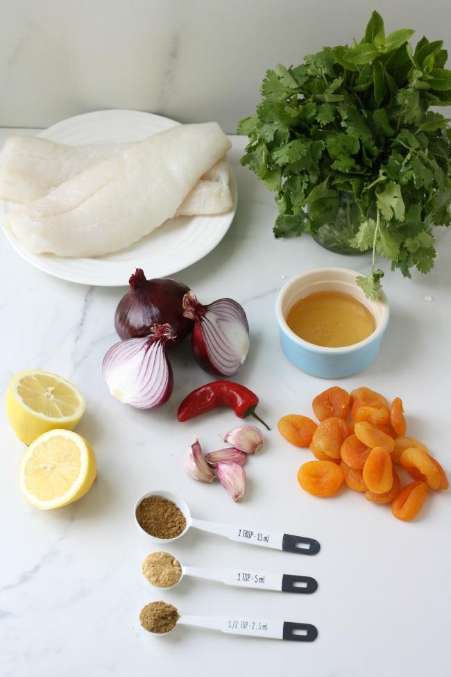 Quick fish tagine with secret veg sauce