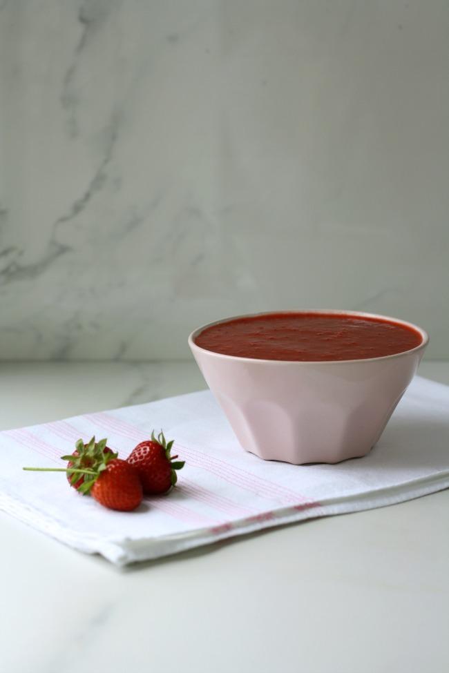 Proper strawberry ice cream