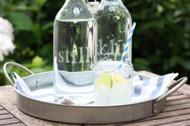 Make: Etched glass water bottles