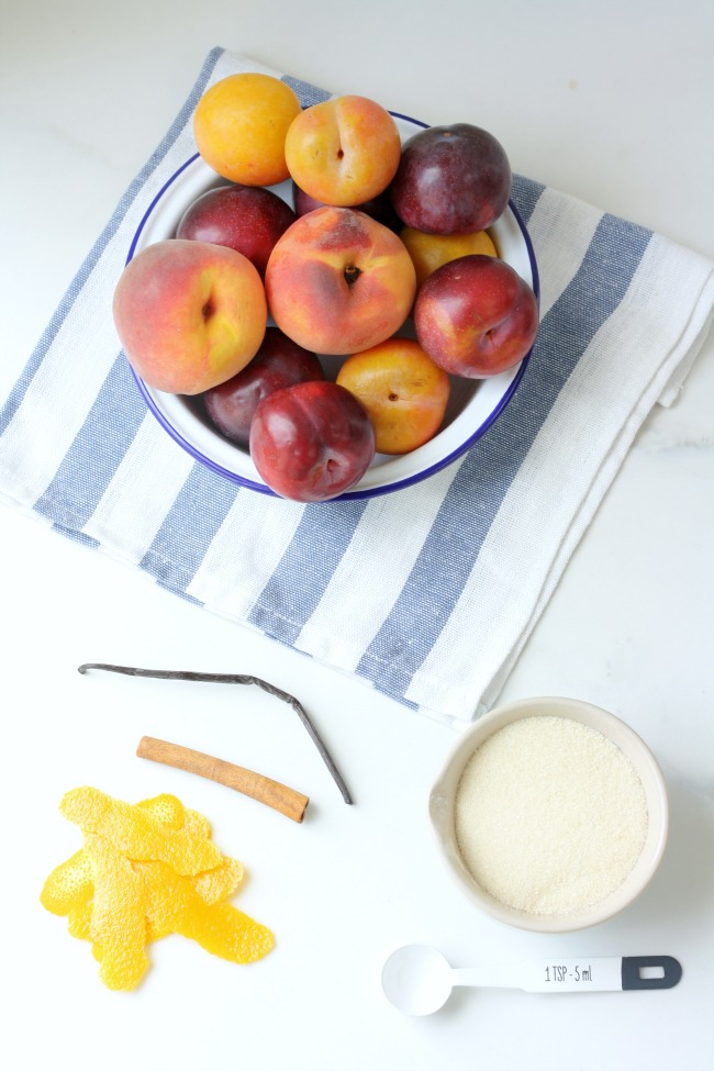 Spiced stone fruit compote