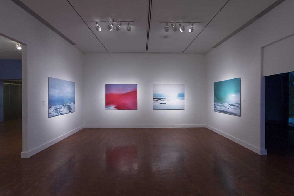 Installation view from  Another North Landscape Reimagined  at Scandinavia House, New York All analog C-prints