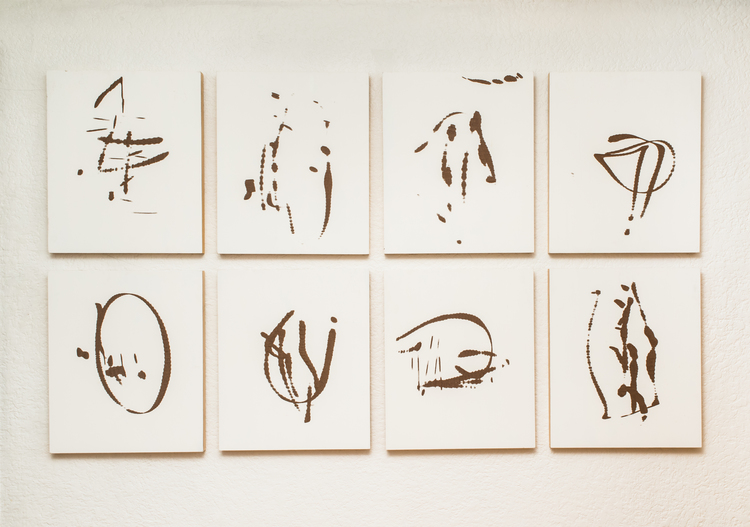 Table Saw Drawings    gesso on masonite            2014