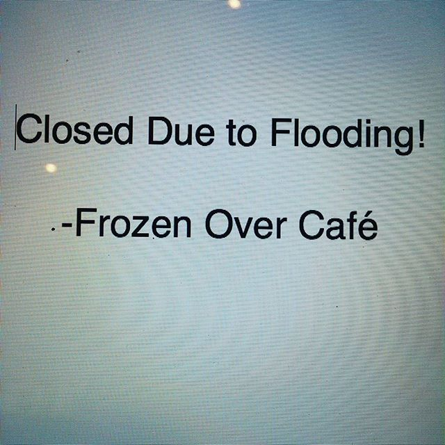 Unfortunately we will not be opening due to some pretty severe flooding that happened overnight. Stay tuned to find out when we can reopen!