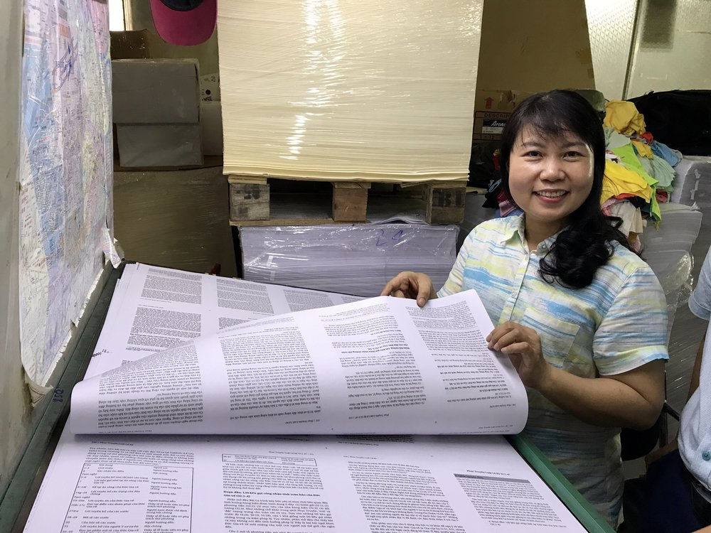 Ti runs a print shop which produces 90% of the Christian literature for Vietnam.