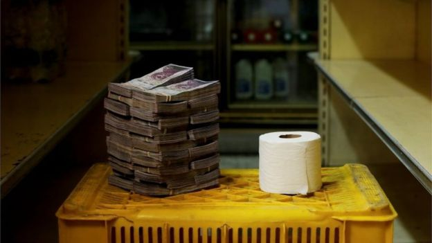 The amount of local currency required to buy one roll of toilet paper. Source: Reuters