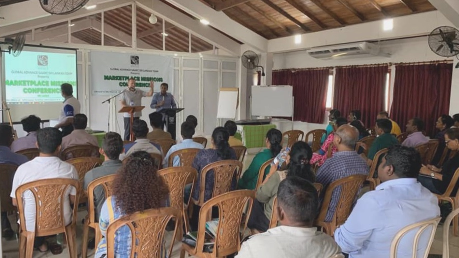 Sri Lankan small business owners gather for encouragement and training.