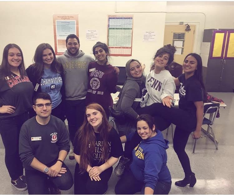 This was College Day at our school. We all wore our college swag (the one day we didn't have to wear our uniforms!) and told the kids about our college experiences and have them ask us questions. It was mad cute.