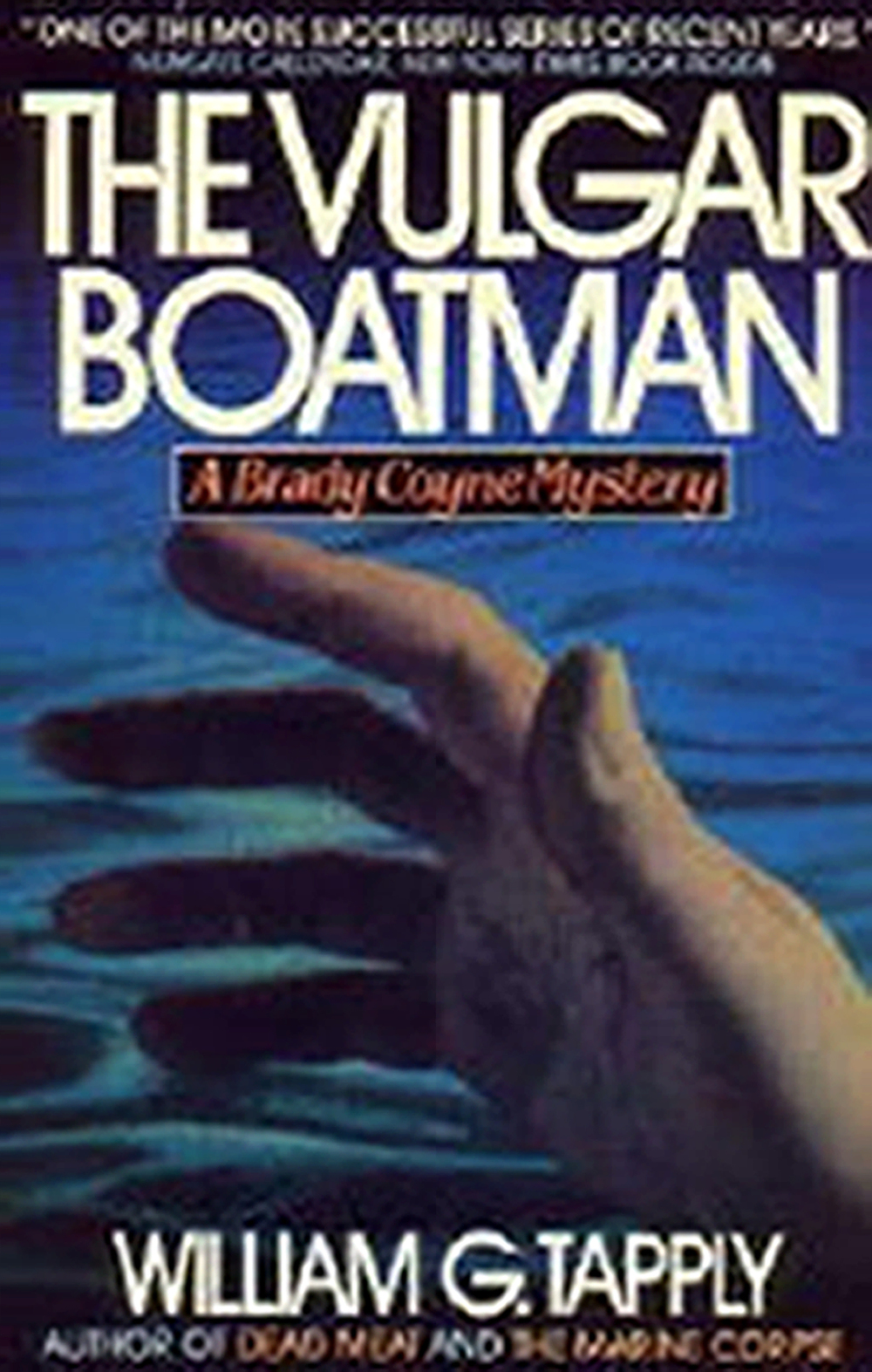 Tapply, mystery, novel, Vulgar Boatman, suspense, thriller