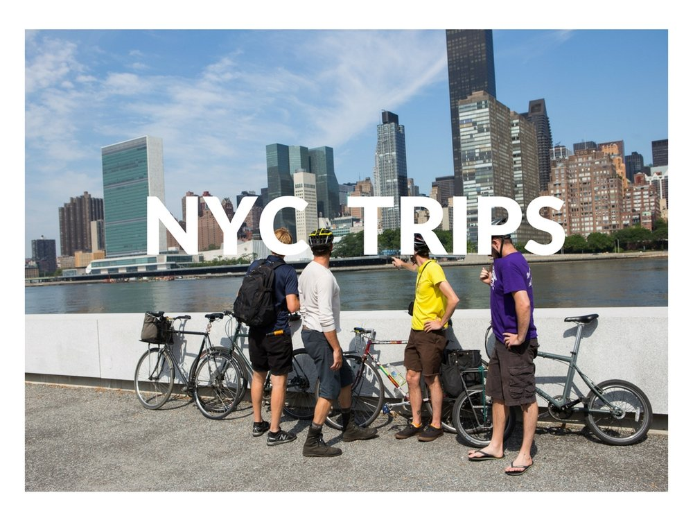 Day and evening trips are a great way to experience beautiful Brooklyn, explore quintessential Queens, or get a mix of both on our Borderline ride. Upper Manhattan and the Bronx is another popular choice-- with the bike, you've got all 5 boroughs at your fingertips!
