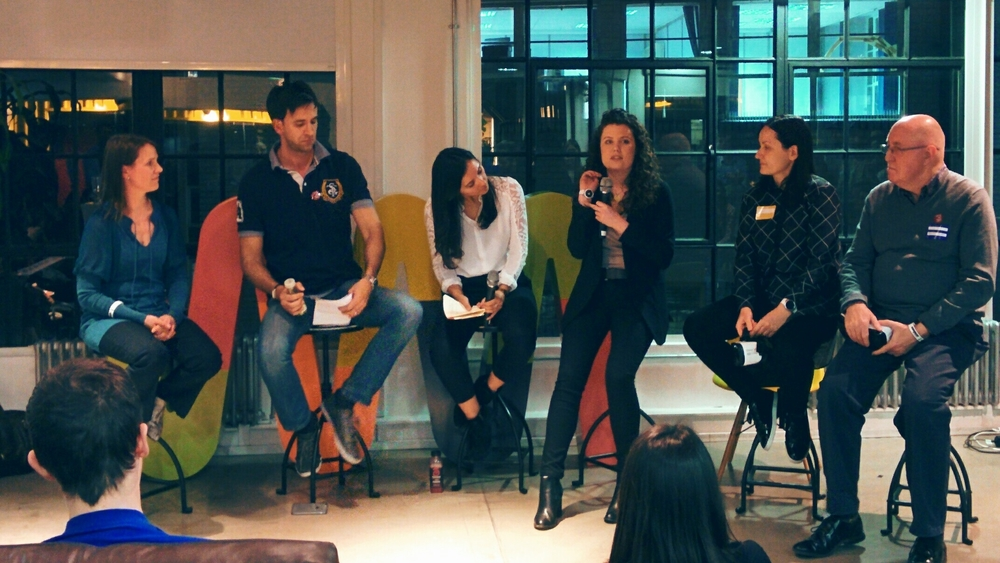 From left to right: Kirstin Hancock, Diogo Coutinho, Phoebe Scriven, Nell Bennett, Maria Rakusanova and Steve Dann.