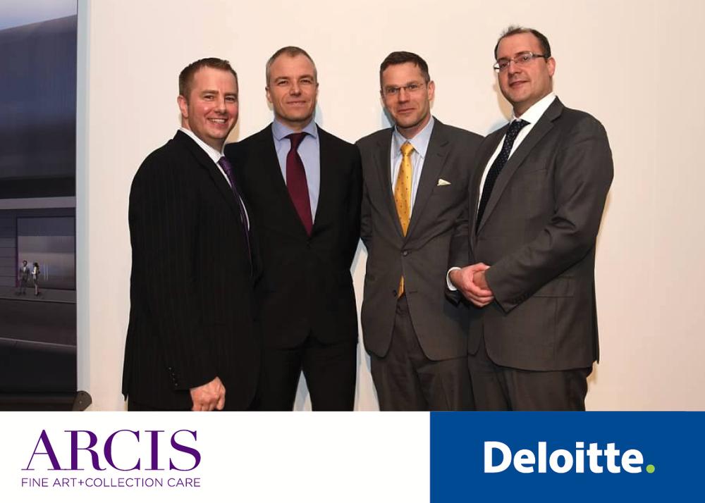 Left to Right:Tom Sapienza (Executive Director, ARCIS), Vincent Gouverneur (Partner EMEA Investment Management Leader, Deloitte), Gauthier Vincent (Lead Wealth Management Consulting Partner, Deloitte),Adriano Picinati di Torcello (Art & Finance Coordinator, Deloitte)
