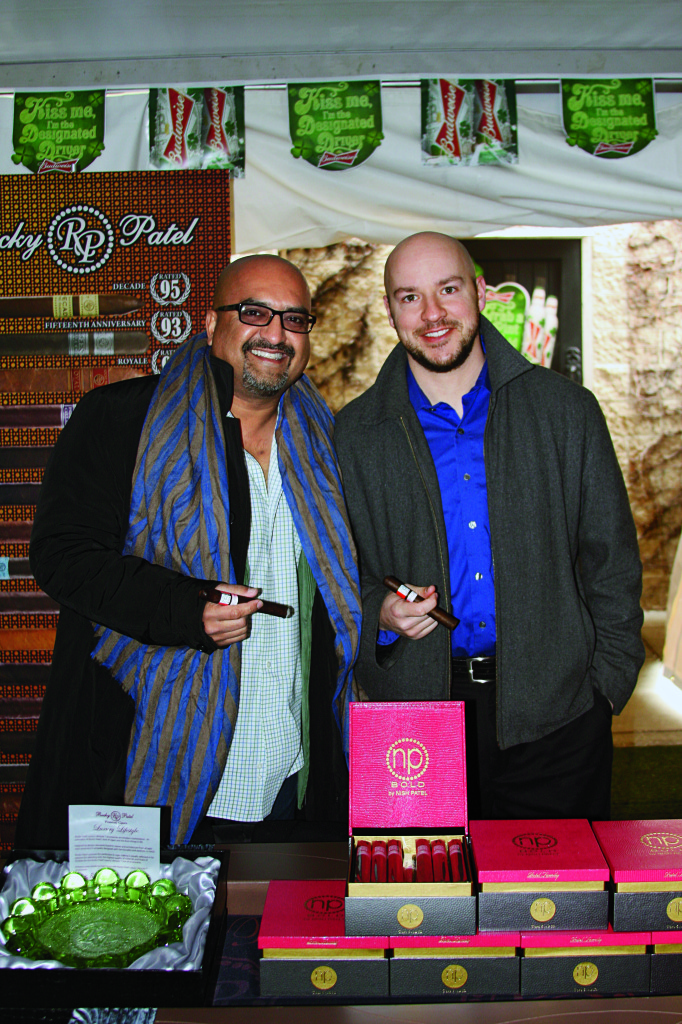 The Rocky Patel Premium Cigars booth at 2014's Cigar Tent Event.