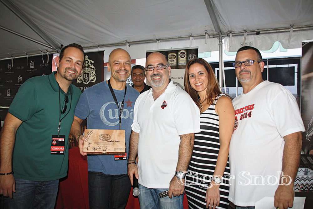 Jeff Padrón, William Borges, Jorge Valdés, Paola Sánchez and Aquiles Legra
