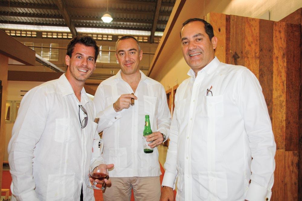 Sebastián Kahune, Gustavo Velayos and Guillermo León