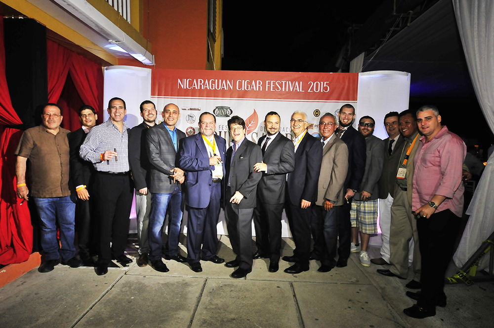 Leaders from Nicaraguan cigar and tobacco companies at the 2015 Puro Sabor Festival