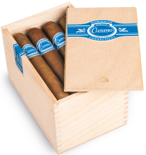 A box of Cusano Dominican Connecticut Robustos; this and three other vitolas will arrive at U.S. tobacconists in April 2016.  (Image: Oettinger Davidoff AG)