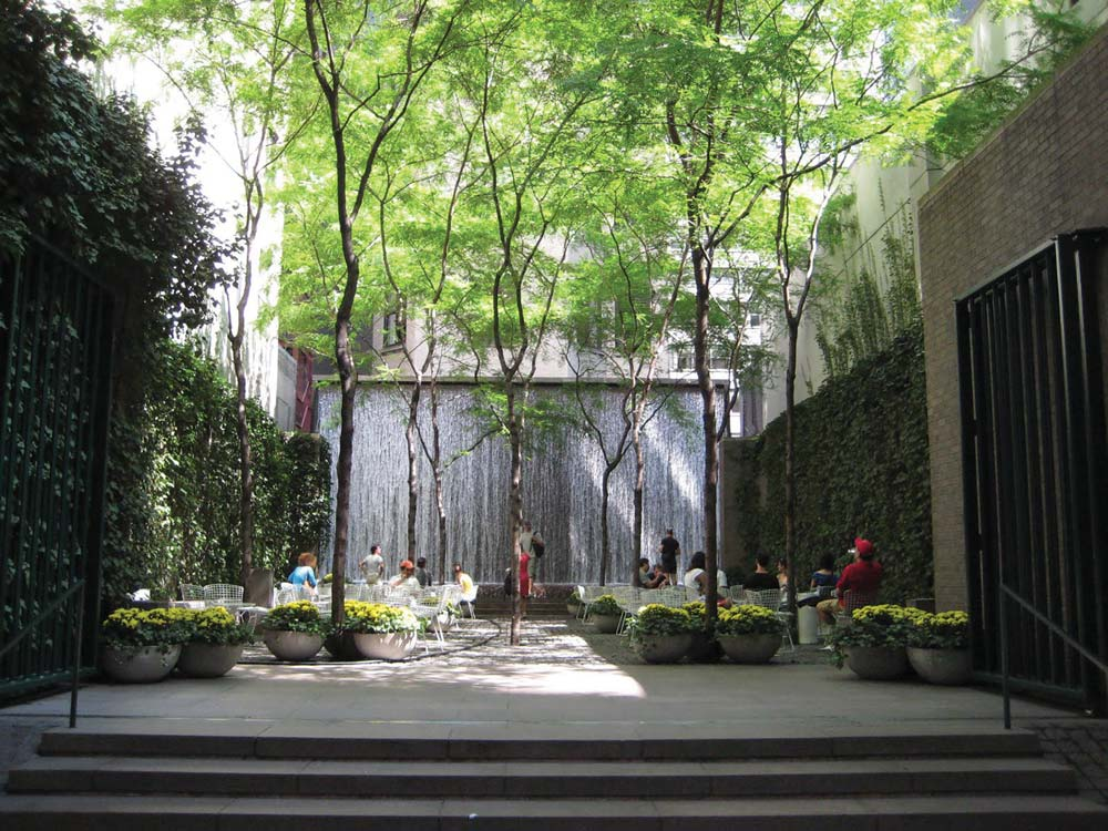 Paley Park is a world-renowned urban space, and it's cigar friendly.