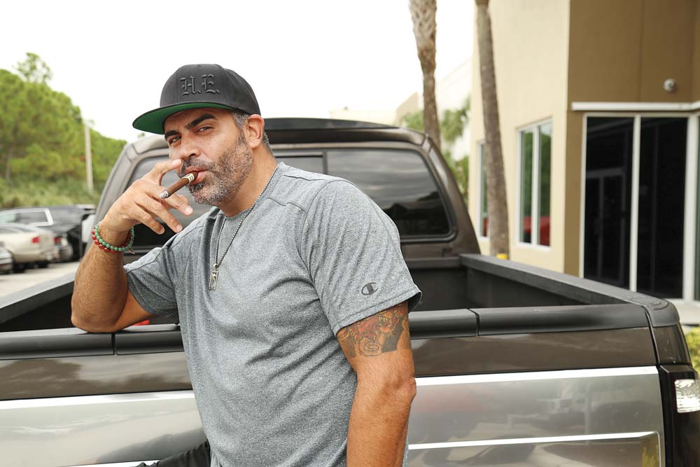 Willy Herrera outside of Drew Estate HQ in Miami