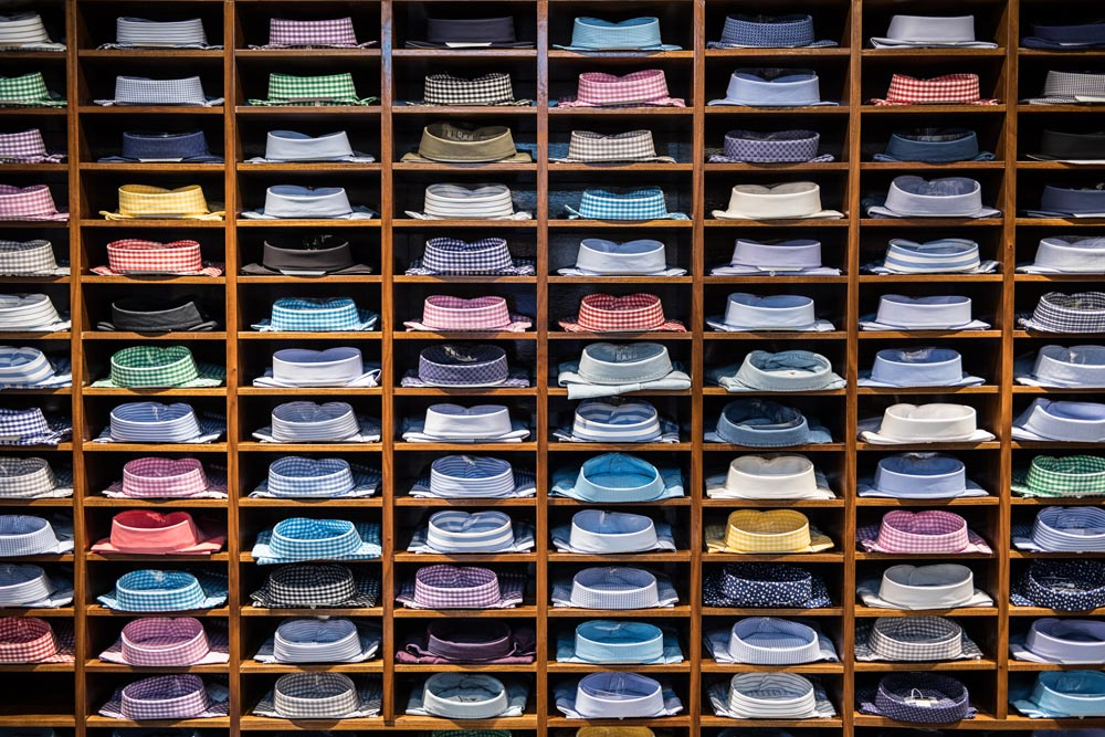 Just some of the men's shirts available at Domenico Vacca's Manhattan store  (photo: Martin Crook)