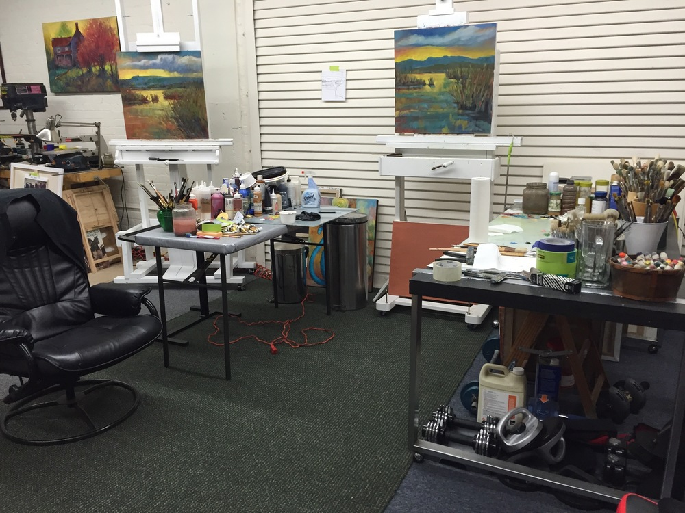 Painting and teaching area