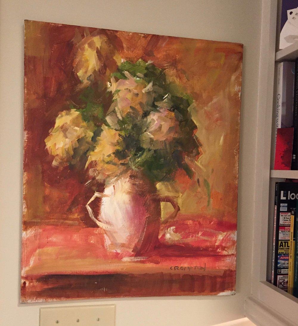 Oil painting by Jim Crompton