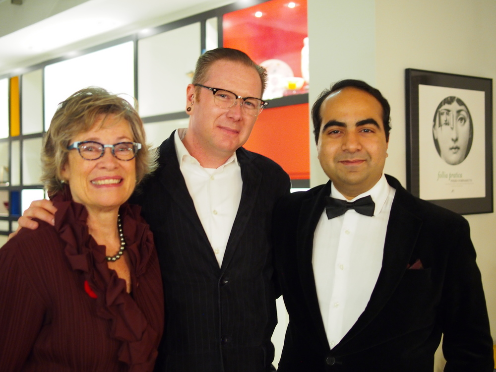 Carol with former book club member, Clayton, and volunteer Jaspreet Tambar.