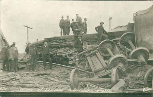 Old photo of train wreck at Lemmon SD in June 1910 The museum has received many old photos from the members and guests. There is not always room to display them all, but we try to show a variety, and the displays change from time to time. Always check the museum's photo displays to see some very interesting memories from our area.