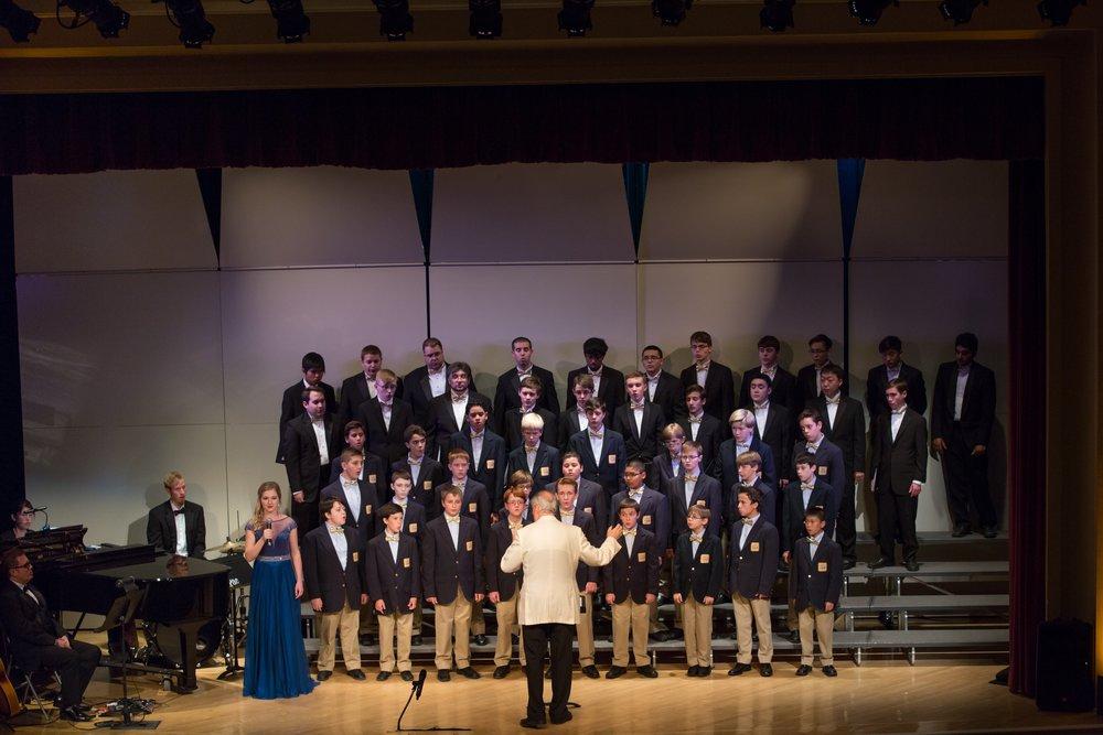 Alexia performing with the Phoenix Boys Choir.