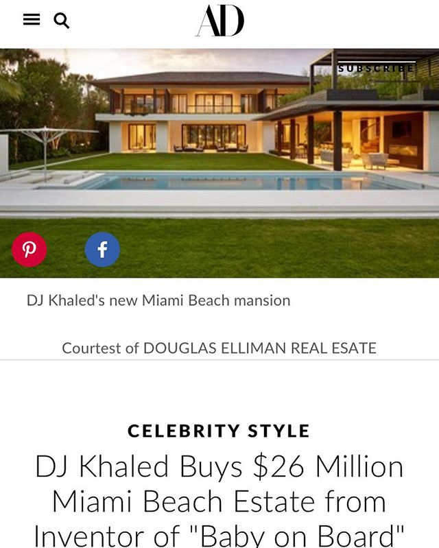 Hey 👋 @djkhaled hope you enjoy your new home! Exterior millwork and interior wood ceilings by #byblosgroup. Designed by @cmadsi Built by Adler Construction. @archdigest