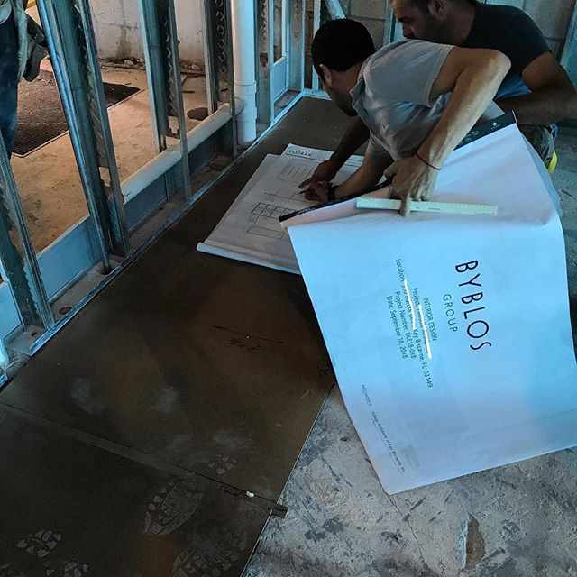 Site verifications for an incredible kitchen that is in the works designed by @villagearchitects manufactured and installed by #byblosgroup for a custom residential project by @kromeconstruction